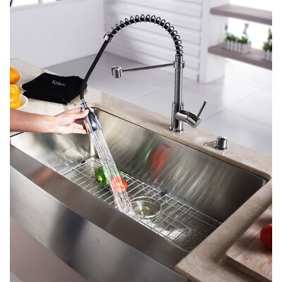 Kraus Single Handle Single Hole Kitchen Faucet