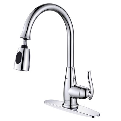 Kraus One Handle Single Hole Kitchen Faucet with Optional Soap Dispenser