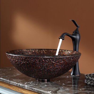Venus Glass Vessel Sink and Ventus Faucet - C-GV-571-19mm-15000ORB
