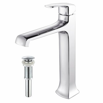 Kraus Bathroom Combos Single Hole Vessel Decorum Faucet with Single Handle