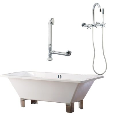 "Giagni Tella 66"" x 30"" Contemporary Bathtub"