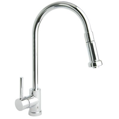Pro Single Handle Single Hole Kitchen Faucet with Pull Down Spout