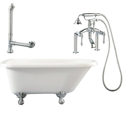 "Giagni Augusta 54"" x 30"" Roll Top Bathtub"
