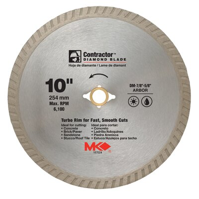"MK Diamond 10"" Contractor™ Diamond Blade  167024"