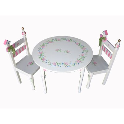 Dexton Kids Princess Rose Kids' 3 Piece Table and Chair Set