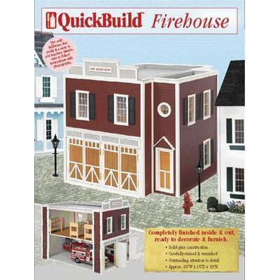 Real Good Toys Quickbuild Firehouse Dollhouse Kit