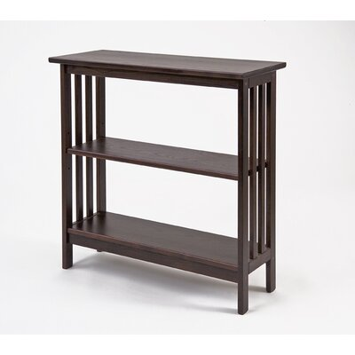 Manchester Wood Console Bookcase in Chestnut