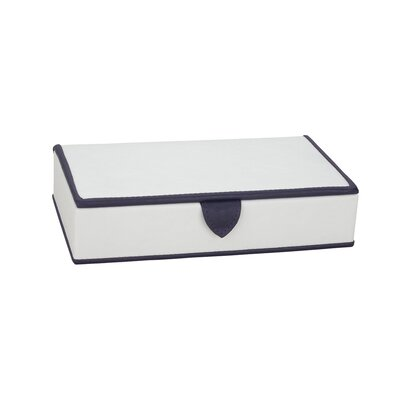 Jewelry Storage Earring Box in Ivory / Deep Black / Purple Trim