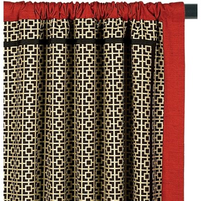 Eastern Accents Sakura Cotton Rod Pocket Shoji Curtain Single Panel