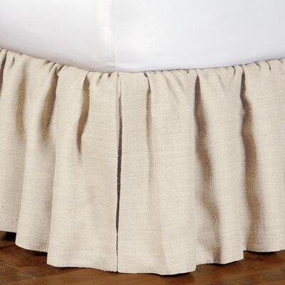 Eastern Accents Rustique Burlap Ruffled Bed Skirt