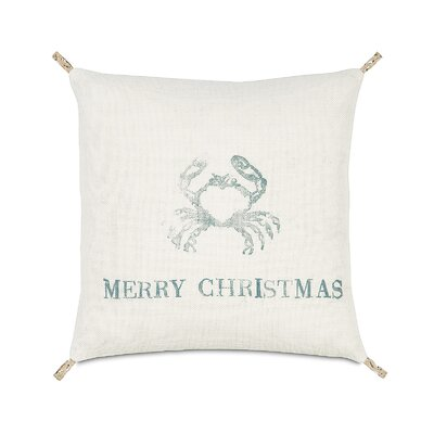 Eastern Accents Coastal Tidings Festive Crab Decorative Pillow
