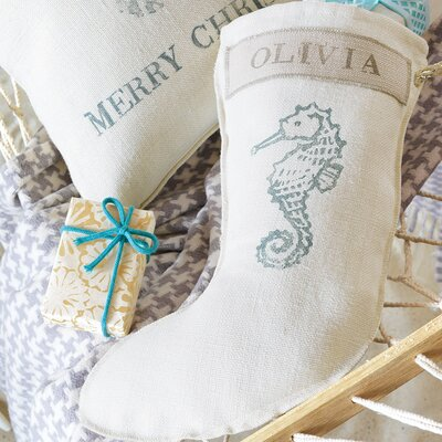 Eastern Accents Coastal Tidings Horsey Spa Stocking