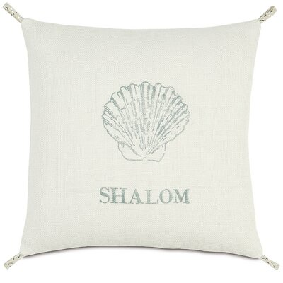 Coastal Tidings Shalom Shell Pillow
