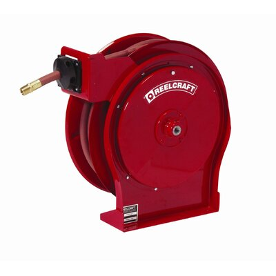 "Reelcraft 0.25""x 35', 5000 psi, Premium Duty Grease Reel with Hose"