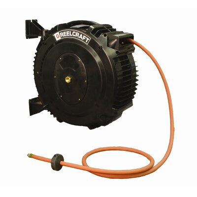 "Reelcraft 0.38"" x 50', 232 psi, Air / Water Delivery Reel with Hose"