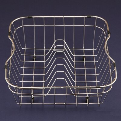 "Houzer WireCraft 15.25"" x 14.75"" Rinsing Basket in Stainless Steel"