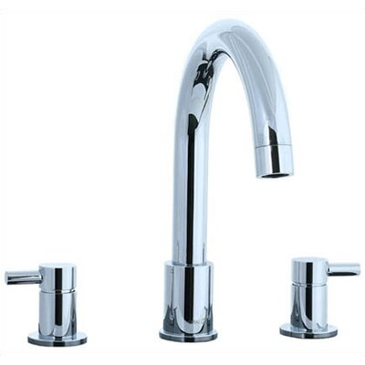 Cifial Techno Double Handle Deck Mount Roman Tub Faucet Lever Handle