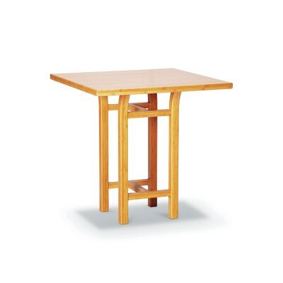 Greenington Tulip Bar Height Bamboo Table in Caramelized Finish