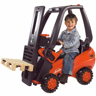 Big Toys Linde Forklift Truck in Red