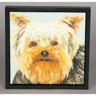 Yorkie Original Oil Painting