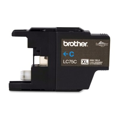 Brother Lc75C (Lc-75C) High-Yield Ink, 600 Page-Yield