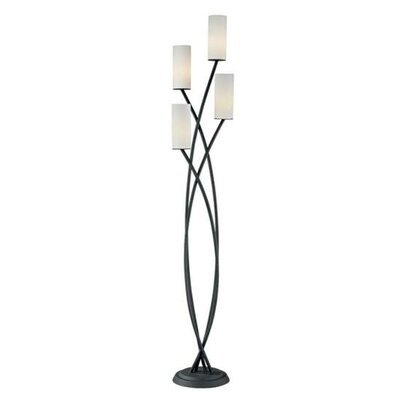 Pacific Coast Lighting Metro Crossing Uplight Floor Lamp in Black
