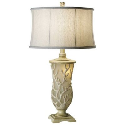 Pacific Coast Lighting Coral Garden Sunrise Table Lamp in Antique White