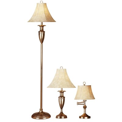 Pacific Coast Lighting Cut Out Design 3 Piece Table Lamp and Floor Lamp Set