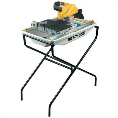 "SawMaster 0.5 HP 115 V 6"" Blade Capacity Wet Tile Saw with Prebundled Folding Stand"