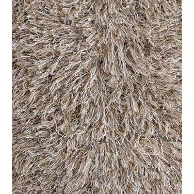 Chandra Rugs Beige Shag Floor Pillows