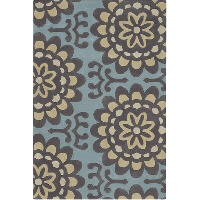 Chandra Rugs Amy Butler Blue Wallflower Rug