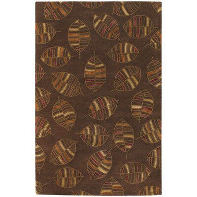 Chandra Rugs Rowe Brown Leaf Rug