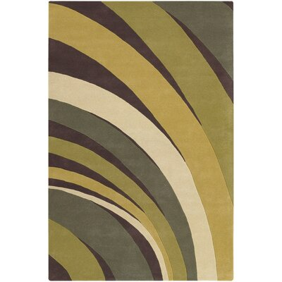 Chandra Rugs Contemporary Designer Green Rug