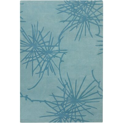Chandra Rugs Contemporary Designer Teal Rug