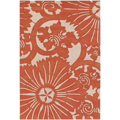 Chandra Rugs Contemporary Designer Orange Rug