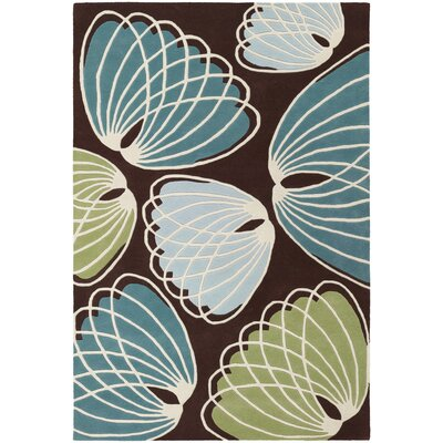 Chandra Rugs Inhabit Designer Brown/Blue Rug