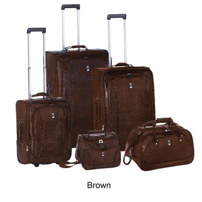 Travel Concepts Amazon Croco 5 Piece Luggage Set