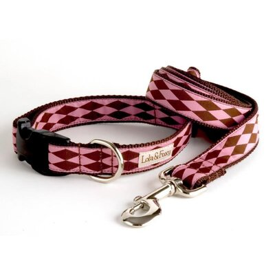Lola and Foxy Harlequin Dog Collar