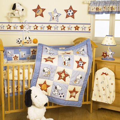 Bedtime Originals Champ Snoopy Crib Bedding Collection