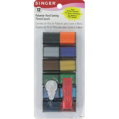 Singer Polyester Hand Sewing Thread Spools (Pack of 12)