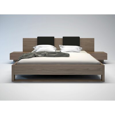Modloft Monroe Platform Bed with Matching Nightstands and Backrest Pillows