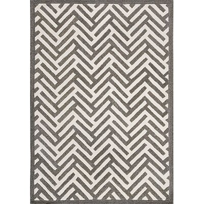 Hokku Designs Tracks Grey Rug