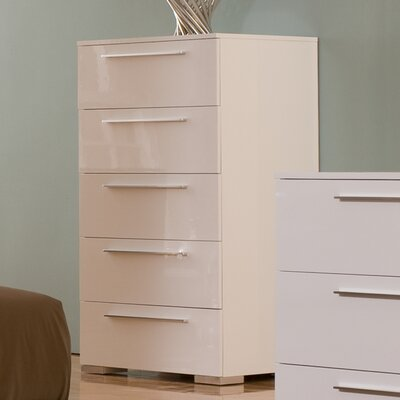 Hokku Designs Chico High 5 Drawer Chest
