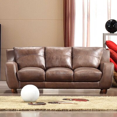 Hokku Designs Napoli Leather Sofa
