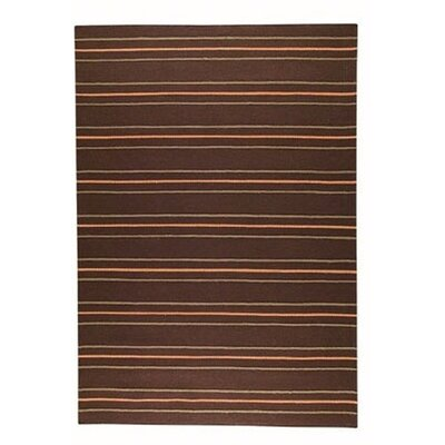 Hokku Designs Savannah Brown Striped Rug