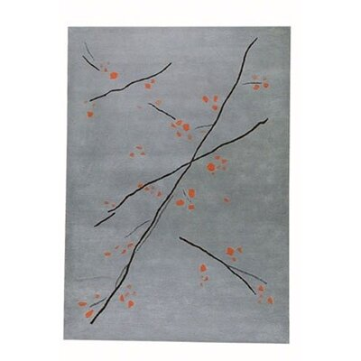 Hokku Designs Inari Grey/Orange Rug