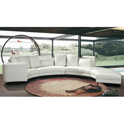 Hokku Designs Carnelian Leather Sectional