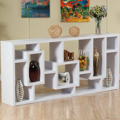 Hokku Designs Bradshaw Unique Bookcase / Display Cabinet in White
