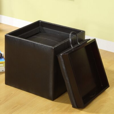 Hokku Designs Littleton Leatherette Cube Ottoman