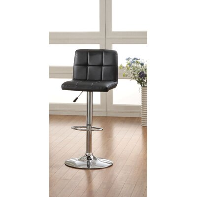 Pure Leatherette Adjustable Bar Stool